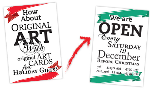 Creative Spirit Art Centre Open Saturdays in December, 4:30 to 11:30