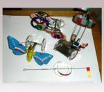 Hanni Sager, Tin Toys, Butterfly/Ferris Wheel/Circus Ride/Sliding Toy