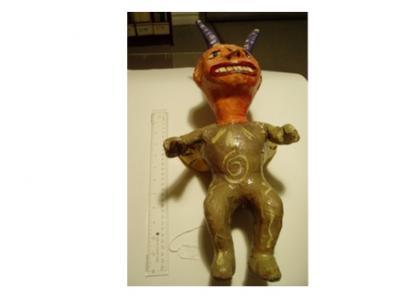 Hanni Sager, Devil Figure, Green