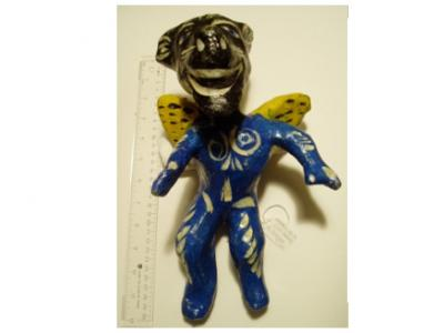 Hanni Sager, Devil Figure (Blue/Yellow)