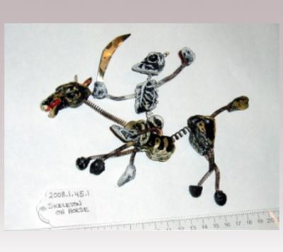 Hanni Sager, Skeleton Riding Horseback