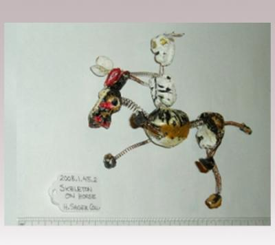 Hanni Sager, Skeleton Riding Horseback