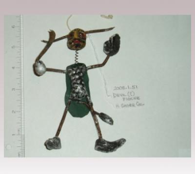 Hanni Sager, Devil Figure with sword