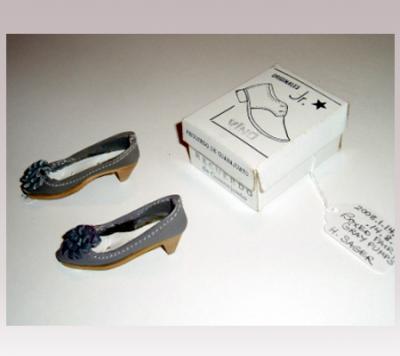 Hanni Sager, Miniature Shoes, (grey)